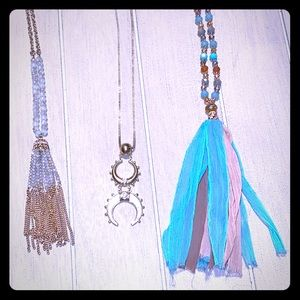 Lot of 3 Long Necklaces